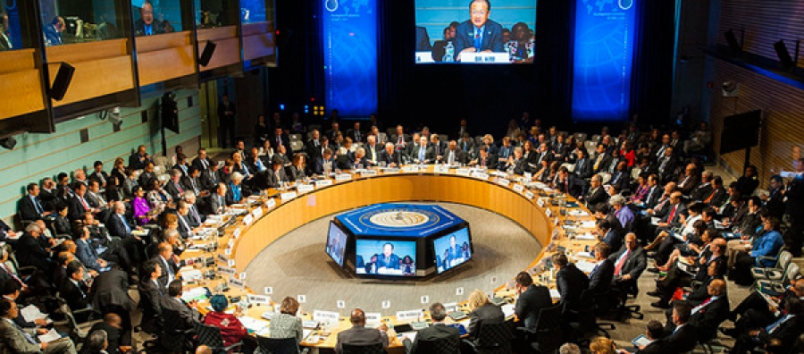 The Development Committee is addressed by World Bank Group President Jim Yong Kim, at the IMF / World Bank Annual Meetings, October 11, 2014.