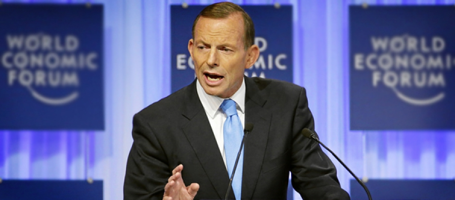 Tony Abbott, Prime Minister of Australia and 2014 Chair of the G-20, speaking on 'Australia's Vision for the G-20' at the Annual Meeting of the World Economic Forum in Davos, 23 January 2014.