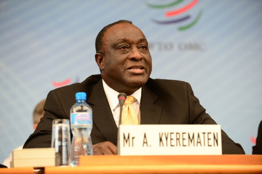 Mr Alan John Kwadwo Kyerematen of Ghana, one of the two African canddates, during the WTO Director-General Selection Process in January