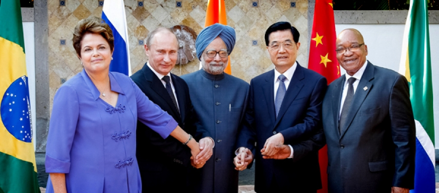 The BRICS leaders at the G20 summit in Mexico last year.