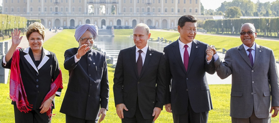 Leaders of the BRICS nations meet at the 2013 G-20 Summit, in St Peterburg, Russia.