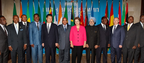 Heads of State of the BRICS countries at last year's summit in Durban, South Africa. Although the theme for the 2013 summit was explicitly Africa-focused, the BRICS-Africa agenda will not feature prominently on the list of Brazilian priorities for this year's 2014 BRICS Heads of State summit.