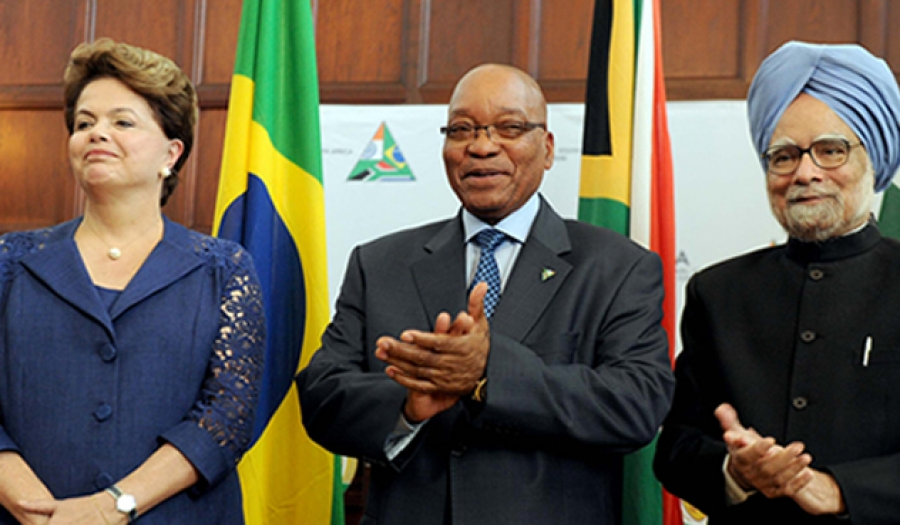 The Presidents of Brazil, South Africa and India at the IBSA Summit in 2011.