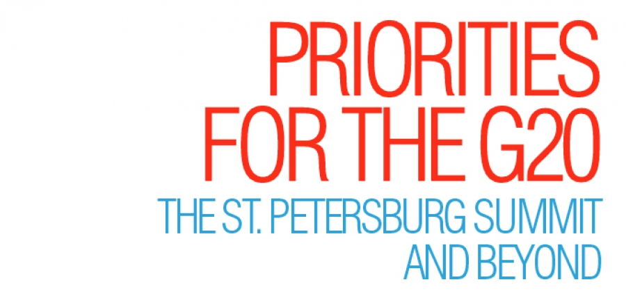 Priorities for the G20: the St. Petersburg Summit and beyond